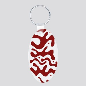 Tamalpa Institute - Red - Aluminum Oval Keychain