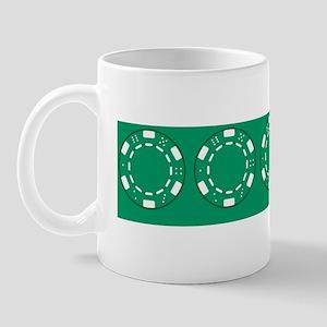 Green Poker Chips Mug