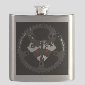Bike Commuter Cabal Zombie Raccoon Flask