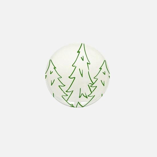 Three Pine Trees Mini Button
