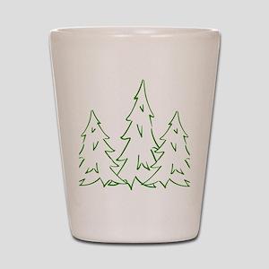 Three Pine Trees Shot Glass