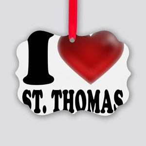 I Heart St. Thomas Picture Ornament