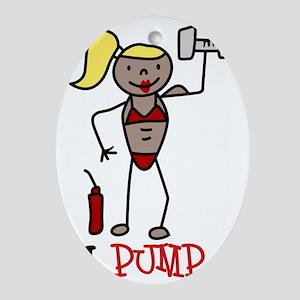 I Pump Oval Ornament