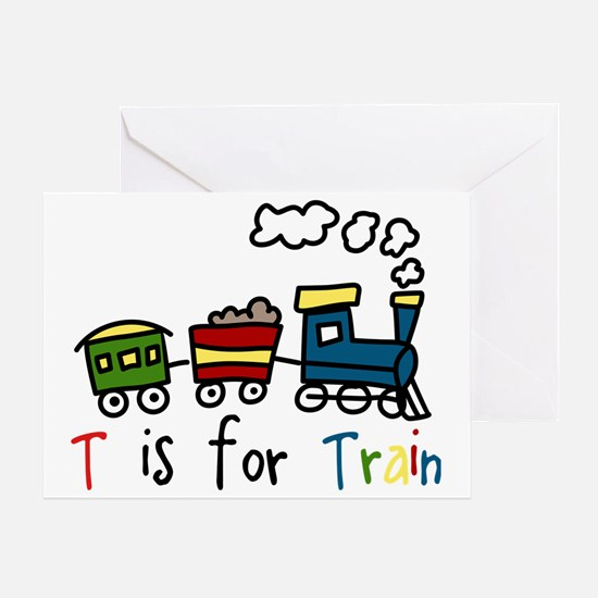 T Is For Train Greeting Card