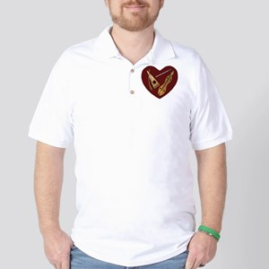 Heart of Music Jewelry Golf Shirt
