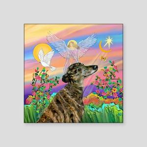 "Guardian 1-Brindle Greyhoun Square Sticker 3"" x 3"""