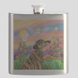 Guardian 1-Brindle Greyhound Flask