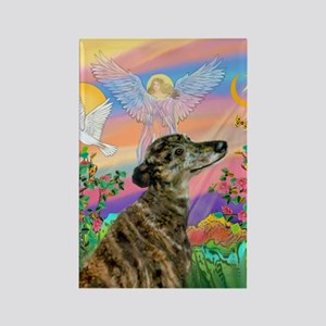 Guardian 1-Brindle Greyhound Rectangle Magnet