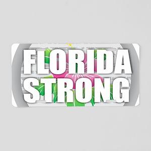Florida Strong - Hibiscus Aluminum License Plate