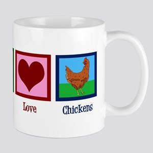Peace Love Chickens Mug