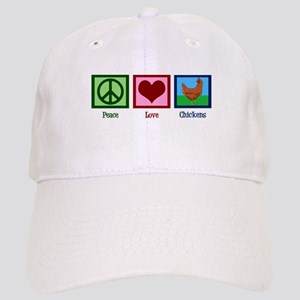 Peace Love Chickens Cap