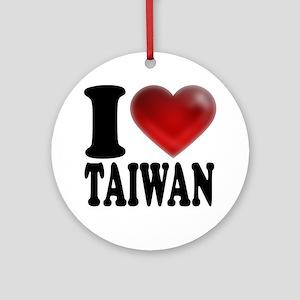 I Heart Taiwan Round Ornament