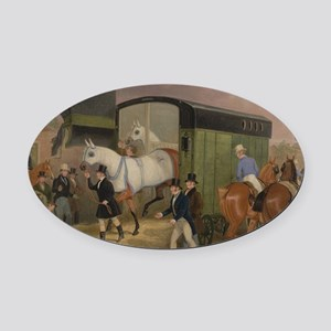 The Derby Pets Oval Car Magnet