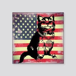 "Americat Square Sticker 3"" x 3"""