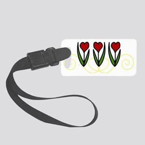 Red Tulips Small Luggage Tag