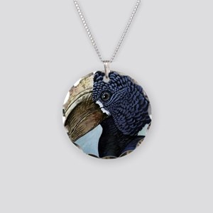 Illustration of a Hornbill B Necklace Circle Charm