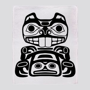 Native American Beaver Throw Blanket