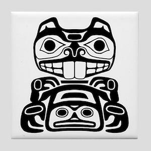 Native American Beaver Tile Coaster