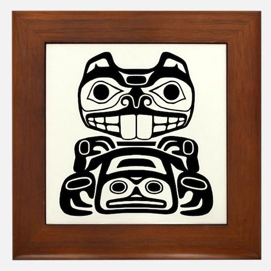 Native American Beaver Framed Tile