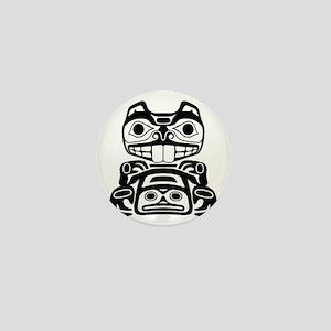 Native American Beaver Mini Button