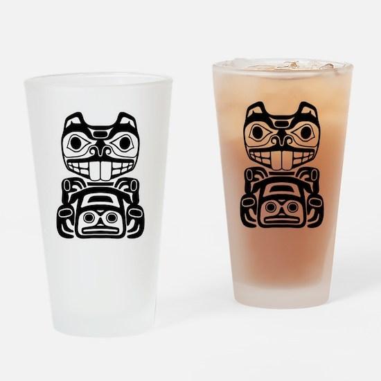 Native American Beaver Drinking Glass