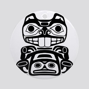 Native American Beaver Round Ornament