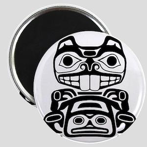 Native American Beaver Magnet