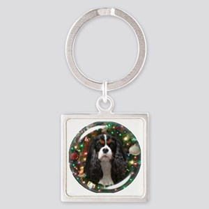 Tricolor Cavalier Square Keychain