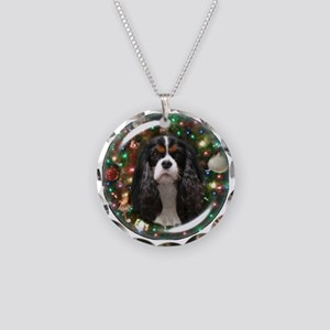 Tricolor Cavalier Necklace Circle Charm