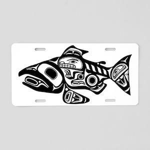 Native American Salmon Aluminum License Plate