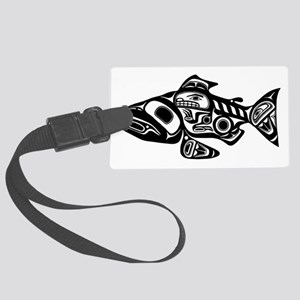 Native American Salmon Large Luggage Tag