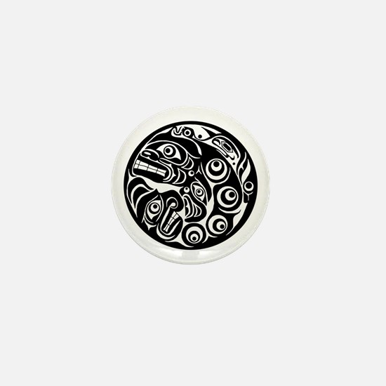 Native American Circle of Faces Mini Button