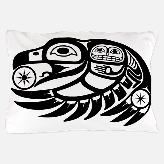 Native American Raven Sun Pillow Case