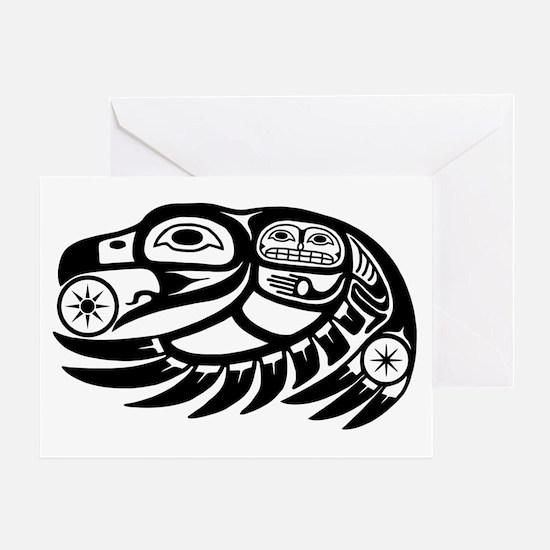 Native American Raven Sun Greeting Card