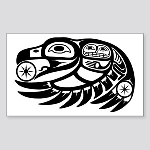 Native American Raven Sun Sticker (Rectangle)