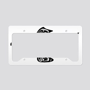 Native American Salmon License Plate Holder