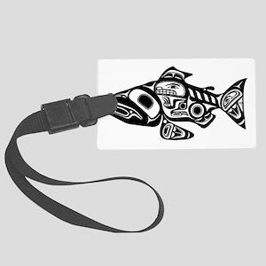 Native American Salmon Large Luggage Tag