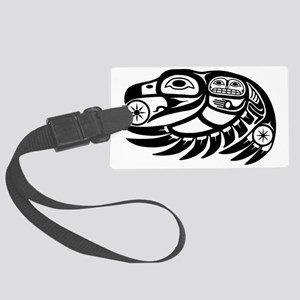 Native American Raven Sun Large Luggage Tag