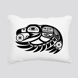 Native American Raven Su Rectangular Canvas Pillow