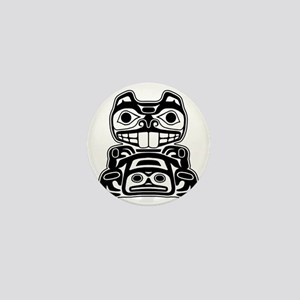 Native American Beaver Mini Button