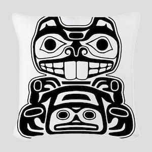 Native American Beaver Woven Throw Pillow