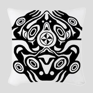 Native American Frog Woven Throw Pillow