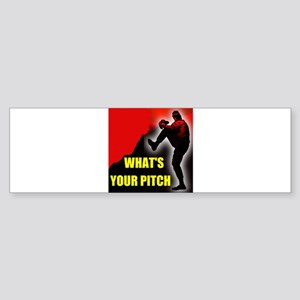 PITCHER Bumper Sticker