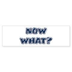 Now What? Graduated Bumper Bumper Sticker