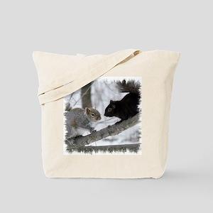 Black Gray Squirrel Tote Bag