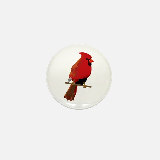 Male Cardinal Mini Button