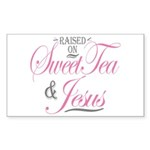 Sweet Tea and Jesus Sticker