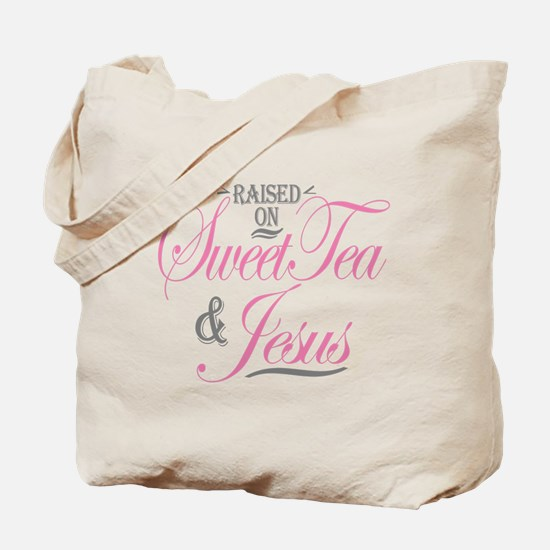 Sweet Tea and Jesus Tote Bag