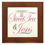 Sweet Tea and Jesus Framed Tile