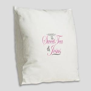 Sweet Tea and Jesus Burlap Throw Pillow